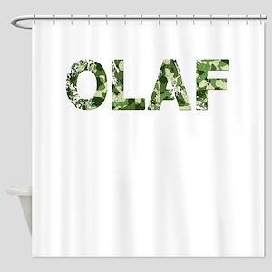 Olaf Vintage Camo Shower Curtain