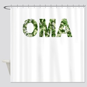Oma, Vintage Camo, Shower Curtain