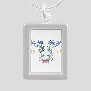 Echsen Silver Portrait Necklace