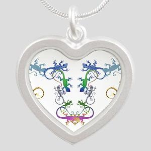 Echsen Silver Heart Necklace