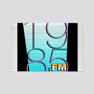 1985FM Black Icon Logo Rectangle Magnet