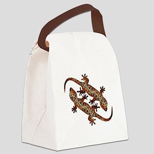 zwei geckos Canvas Lunch Bag
