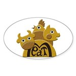 Butcher Sticker (Oval 50 pk)
