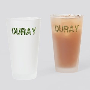 Ouray, Vintage Camo, Drinking Glass