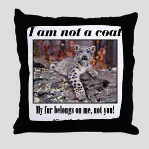 Paws Off Throw Pillow