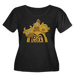 Butcher Women's Plus Size Scoop Neck Dark T-Shirt