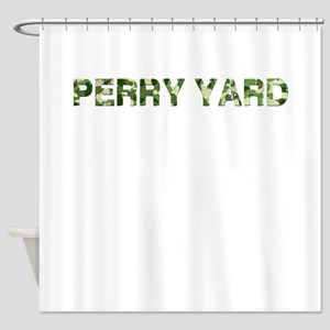 Perry Yard, Vintage Camo, Shower Curtain