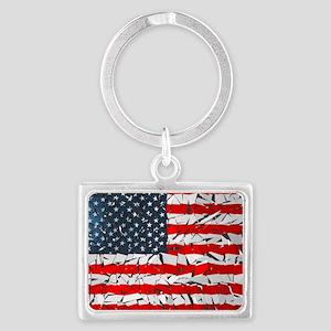US Flag Landscape Keychain