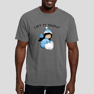 Let It Snow - Black Hair Mens Comfort Colors Shirt
