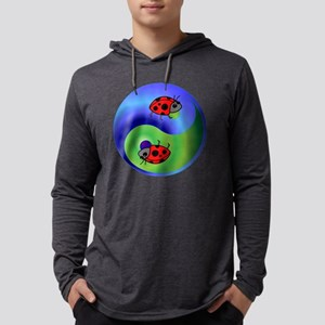 3-ladybug Mens Hooded Shirt
