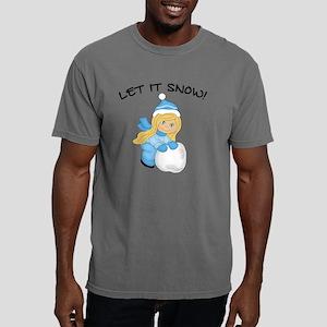 Let It Snow - Blonde Hai Mens Comfort Colors Shirt