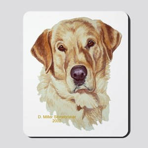 Scout Yellow Labrador Mousepad