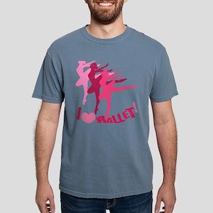 I Love Ballet Mens Comfort Colors Shirt