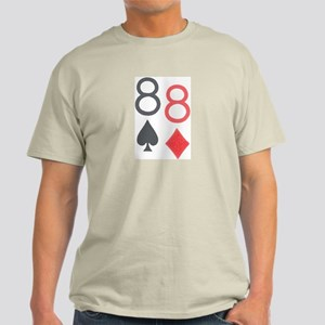Pocket Eights Poker Ash Grey T-Shirt