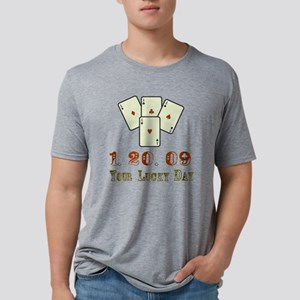1.20.09 Your Lucky Day! Col Mens Tri-blend T-Shirt