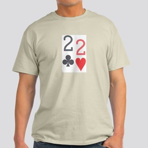 Quack Quack Pocket 2 Poker Ash Grey T-Shirt
