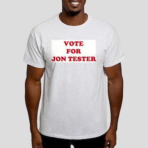 VOTE FOR JON TESTER  Ash Grey T-Shirt