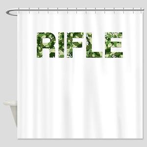 Rifle, Vintage Camo, Shower Curtain