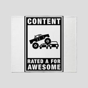 Monster Truck Throw Blanket