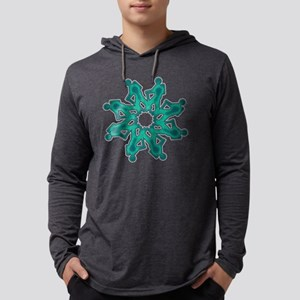 Hike Around Blue Green Mens Hooded Shirt