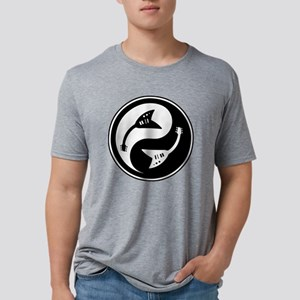 yin-v-guit-bw-T  Mens Tri-blend T-Shirt