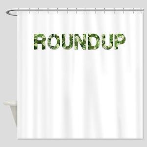 Roundup, Vintage Camo, Shower Curtain
