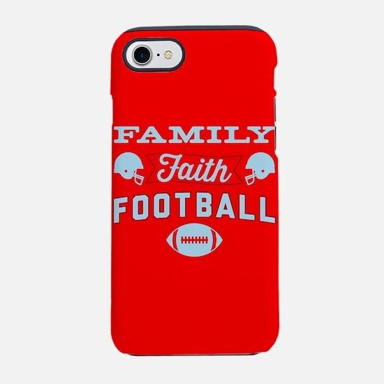 Family Faith Football Red iPhone 7 Tough Case