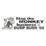 Stop the Monkey Business Bumper Sticker