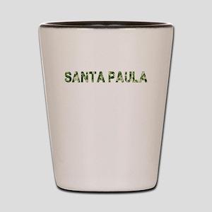 Santa Paula, Vintage Camo, Shot Glass