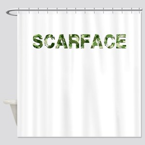 Scarface, Vintage Camo, Shower Curtain