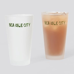 Sea Isle City, Vintage Camo, Drinking Glass