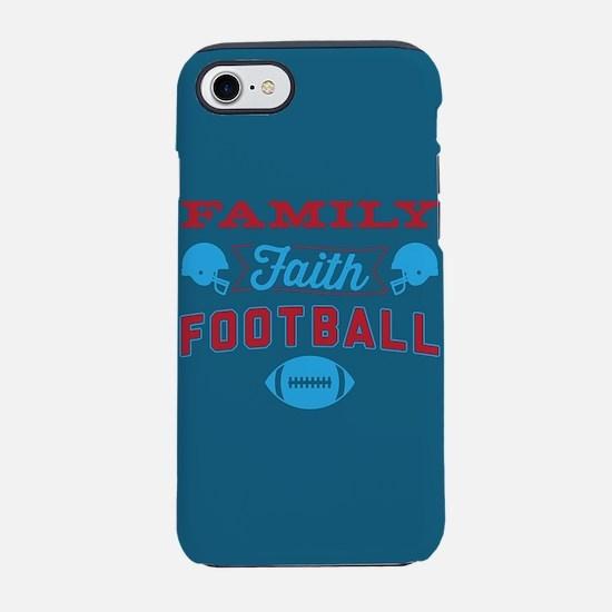 Family Faith Football Blue iPhone 7 Tough Case
