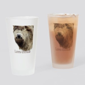 Love Sloths Drinking Glass
