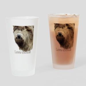 Love Sloths Drinking Glass