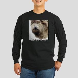 Love Sloths Long Sleeve Dark T-Shirt