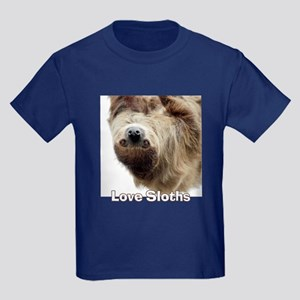 Love Sloths Kids Dark T-Shirt