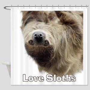 Love Sloths Shower Curtain