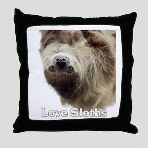 Love Sloths Throw Pillow