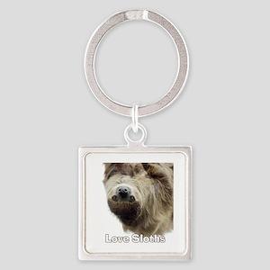 Love Sloths Square Keychain