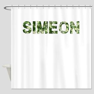 Simeon, Vintage Camo, Shower Curtain