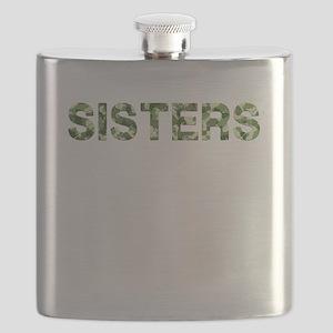 Sisters, Vintage Camo, Flask