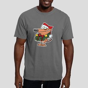 christmas Wreath Dog Mens Comfort Colors Shirt