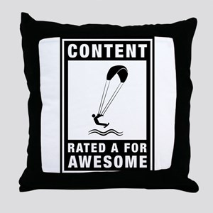 Kite Boarding Throw Pillow