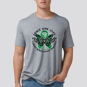 Kidney-Cancer-Butterfly-Tri Mens Tri-blend T-Shirt