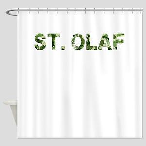 St Olaf Vintage Camo Shower Curtain