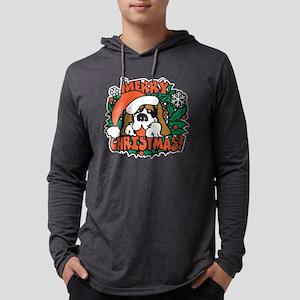 merry christmas st bernard Mens Hooded Shirt