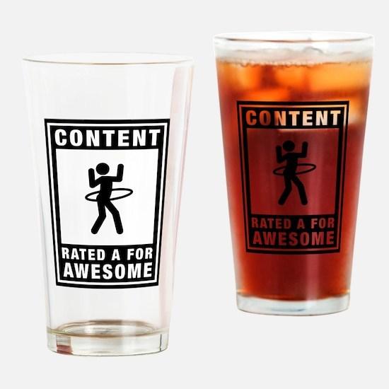 Hula Hoop Drinking Glass