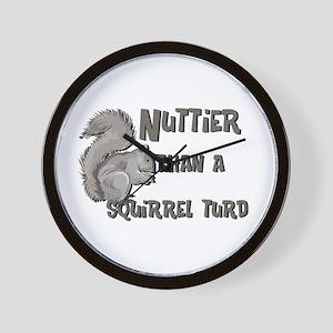 Nuttier Than a Squirrel Turd Wall Clock