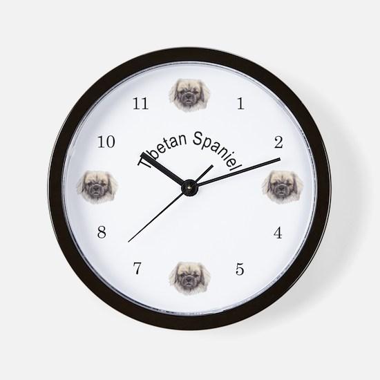 Tibetan Spaniel Wall Clock
