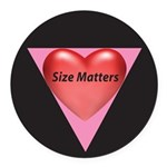 SM-Size-Matters---Heart Round Car Magnet